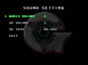 Sound options.