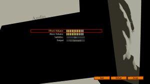In-Game Audio Options Menu