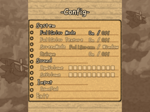 The general settings from the original release.