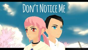 Don't Notice Me cover