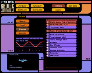 Graphics menu screenshot
