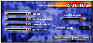 Sounds settings