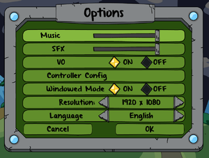 Ingame Options