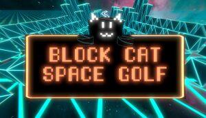 Block Cat Space Golf cover