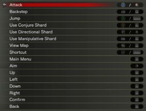 Input mapping menu.