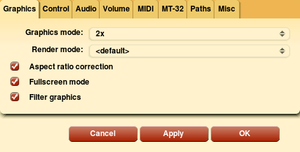 ScummVM settings.
