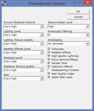 External advanced graphics settings.
