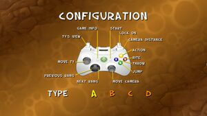 Pad controls. 4 different presets
