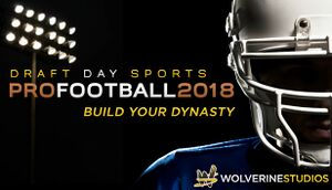 Draft Day Sports: Pro Football 2018 cover