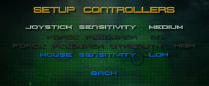 Controllers settings.