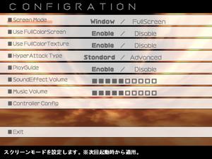 General settings from the original C78 version.