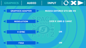 Configuration tools graphics tab
