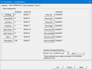 Remapping settings from external configuration tool.