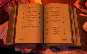 In-game general settings