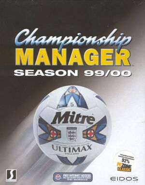 Championship Manager: Season 99/00 cover