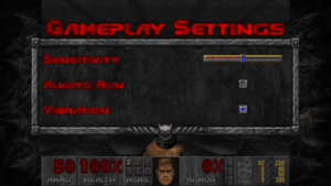 Gameplay control settings.
