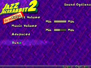 In-game general audio settings.