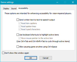 Launcher accessibility settings.