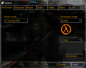 In-game general multiplayer settings.