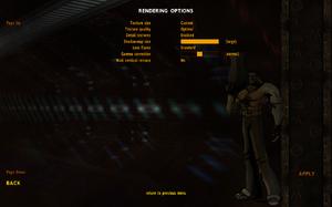 In-game general rendering settings.