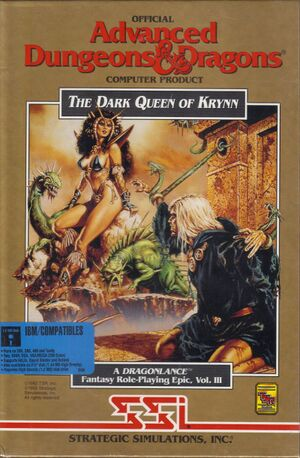 The Dark Queen of Krynn cover
