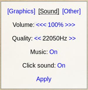 In-game audio menu.