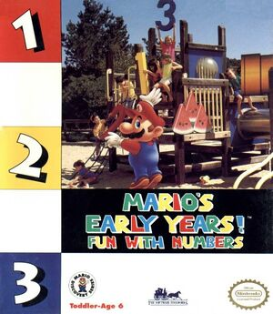 Mario's Early Years! Fun with Numbers cover
