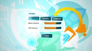 De Blob Audio Options.