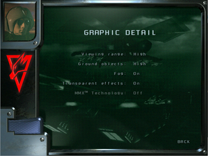 Graphics detail settings