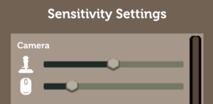 In-game sensitivity settings.