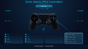 Default Steam Input configuration for the DualShock 4