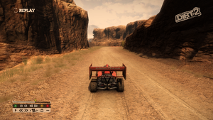 Chase (far) camera with a vertical FOV of 60. A background texture is temporarily missing at this FOV.