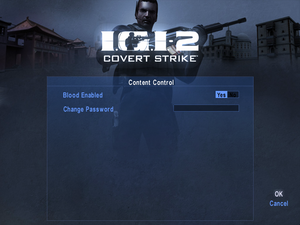 In-game content settings.