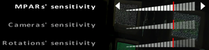 In-game mouse sensitivity settings.