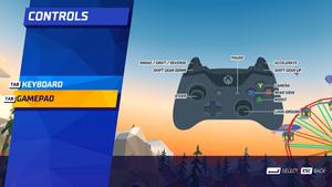 In-game controller screen.