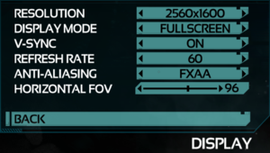 Video Display Settings.