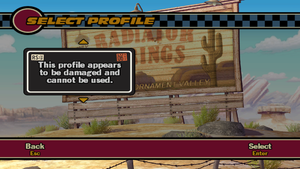 """Profile here being """"damaged""""."""