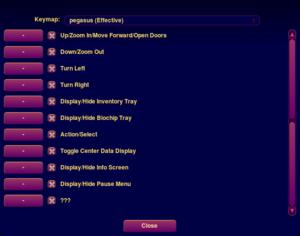 In-game custom keymapper (accessed by pressing F8).