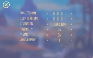 In-game general settings