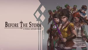 Tidal Affair: Before The Storm cover