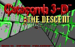 Catacomb 3-D: The Descent cover