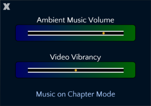 In-game audiovisual settings.
