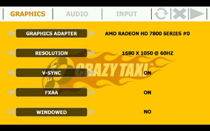 Launcher video settings.