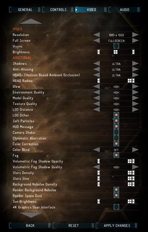 Launcher video settings