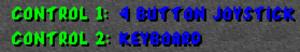 Player input settings.