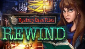 Mystery Case Files: Rewind cover
