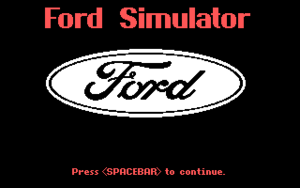 The Ford Simulator cover