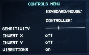 Controls settings
