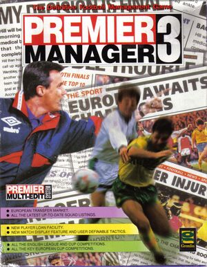 Premier Manager 3 cover