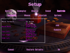 In-game keyboard settings.